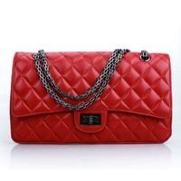 Free shipping Luxurious sheepskin women messenger bag , Fashion genuine leather handbag  M225/32cm