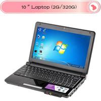 10 inch netbook Intel Atom D2500 1.8GHz Memory 2GB HDD 320GB mini laptop notebook umpc laptops s30 Win 7