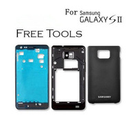 original galaxy s2 housing for samsung galaxy s2 i9100 full housing cover case with buttons replacement black / white gift tools