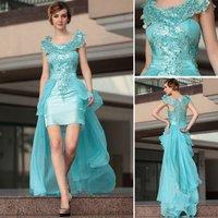 Special Offer DORISQUEEN 30661high-low Prom dress short front long back prom dress design 2014