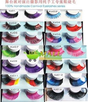 LOL-MALLexport product 14styles 20*fancy party hand-made Thick Long False Eyelashes Eyelash Eye Lashes wholesale  women