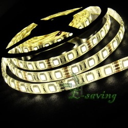 5050 LED Strip SMD Flexible light 60led/m 300 5M waterproof warm/white/red/green/blue/yellow ribbon(China (Mainland))