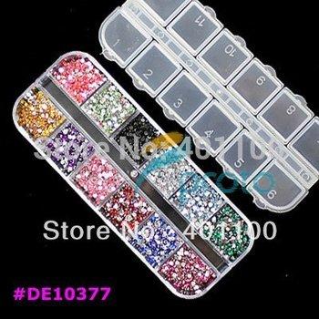 3,000pcs 2.0mm 12 colors Round Acrylic Rhinestone for Nails 3D Nail Art Decorations Rhinestones Nail Tips Dropshipping SKU:D0030