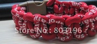 100PCS/Lot Newest Germanium&Titanium Braided Bracelets Fashion Sport Bands MIX COLORS No Box