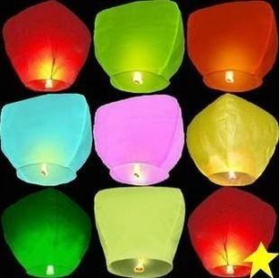 10pcs/lot High Quality Chinese Lanterns For Wedding Sky Lanterns & Mix Color Paper Lanterns