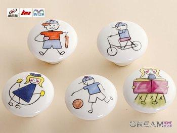 10pcs 38mm Sport series Ceramic knob sepcial for Kids/  Cabinet DRAWER Pull KNOB Handle