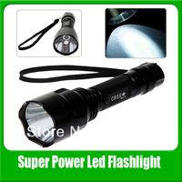 Free Shipping Ultrafire C8 Cree XM-L T6 1600 Lumens 5 Modes Led Torch Flashlight (1 x 18650 Battery)