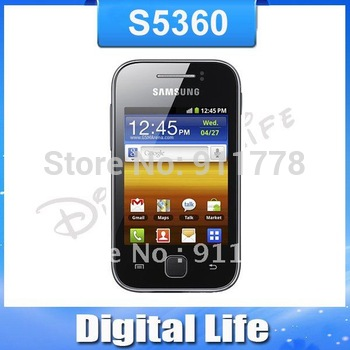 S5360 Original Samsung Galaxy Y S5360 Android Touch Screen GPS 3G WIFI  Mobile Phone Free Shipping