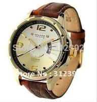 Julius Men's Quartz Watch Sport Fashion Round Genuine Leather Band Japan Movement Date JAH-033 Wholesale Dropship