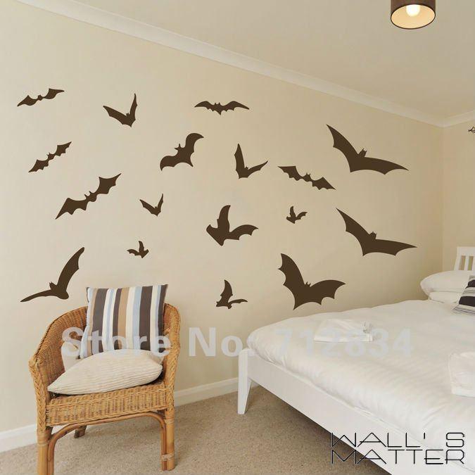 B Z D Free Shipping Wall S Matter Home Decor Vampire Bats