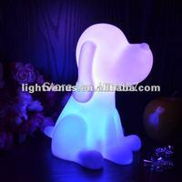 2014 hot sale  Rainbow Colorful big Dog LED night light lamp for kids
