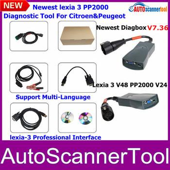 Newest Version lexia3 V48 pp2000 V24 interface lexia 3 citroen peugeot diagnostic With New Diabox(V7.36)