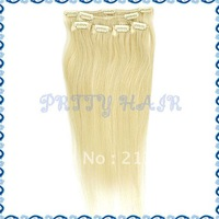 20inch wholesale 3sets/Lot, Clip in Straight Brazilian Remy Human Hair Extensions, Color#613,7185