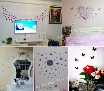 POP-UP figures butterfly 3D wall sticker
