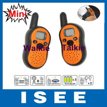 2014 Brazil Free Shipping 2*LCD Mini Auto Multi-Channels Radios Walkie Talkie Interphone Intercom Transceiver set