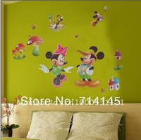 Free shipping Lovely Mickey Wall Stickers for kid's Room