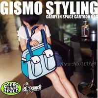 Free Shipping FASHION gismo 2012 woman man Comic cartoon 3D vivid Shoulder Messenger Bag HandBag carry in space cartoon bag