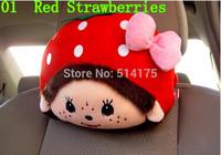 1 Pair X MONCHHICHI Soft Nice Cute Cartoon Cushion Headrest Neck Rest Pillow Car Accessories 1pair=2pcs