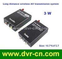 Free shipping; 2.4G Long distance 3W wireless video and Audio Transmitter; 2000m