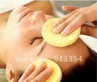 Wholesale 100 Pcs  facial cleansing cellulose sponge makeup remover Round shape 45367-12
