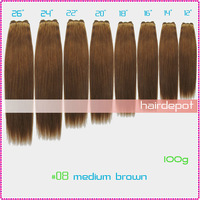 3x #08 BRAZILIAN Hair Weft 100g/pack REMY medium brown Quality 100% Human Hair Weaving Extensions SilkySoft Straight MIX Order