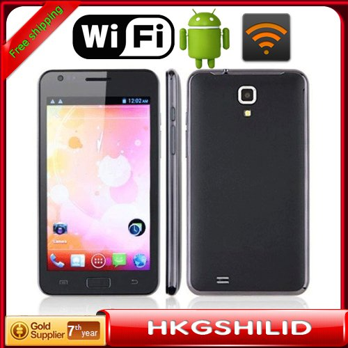 "Post Free STAR 3G Smartphone i9220(N9770)MTK6577 Android 4.0.9 512MB+4GB Dual-core 1.0GHz 5.08""WVGA Screen GPS(IGO) Free Film(Hong Kong)"