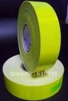 Highlight lattice diamond-level reflective tape 50MM*45M fluorescent yellow green warning marking tape vehicle reflecting