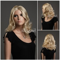 Attractive hair wig for women medium long blonde  fashion most popular ladies Sexy hot girl wigs