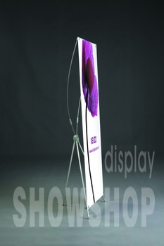 Haha  tripod adjustable X banner stand for Advertising display exhibition tradeshow,portable equipment(without printing)
