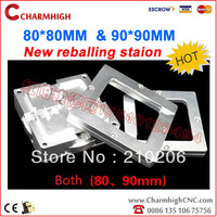 Free shipping, high quality BGA 80*80/ 90*90mm BGA Reballing Station, patent product,double frame,1 finger ajust the chip, hot!
