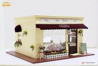 Best selling diy beautiful wooden doll house,miniature wooden dollhouse with lights and mucic best gift for christmas