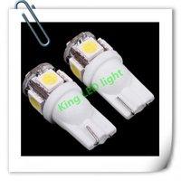 Free EMS/DHL 500pcs/lot 194 168 W5W T10 5 SMD LED Bulbs White LED Wedge Lighting Car Side LED Light