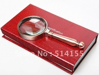 PGY003. 8X Hand-hold Magnifier With Metal shank Jewellery Identifying Portable Loupe free shipping