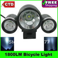 TrustFire TR-D003 3 Mode 1800Lumens 1*Cree XML-T6 + 2*XPE-R5 LED Bike/Bicycle Light with Switch(4x18650 battery)