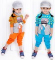 China post air mail free shipping,2013 autumn girl children&#39;s casual sports set , 3pcs/set , Top+T-shirts+pants