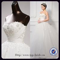 S613 Real Photos Elgant No Risk Customer Made Czech Drill Hot Sale Wedding Dresses