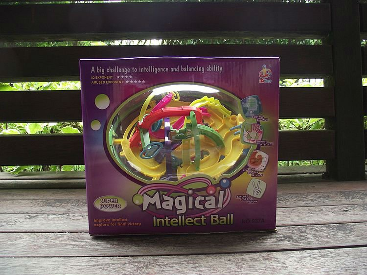 FREE SHIPPING! magical intellect ball family party and educational funny toys for children ,cube 208 levels developmental game(China (Mainland))