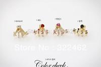 1x Sexy Elegant Fashion Korean Lovely Romantic Letter Kiss Rhinestone Earrings Free Shipping #01-0012