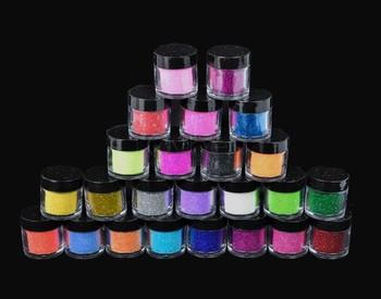 Free Shipping New 24PCS/Colors Nail Art Tool Kit Acrylic UV Powder Make up Metal Shiny Glitter Dust 5838