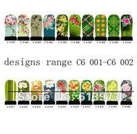 Nail beauty Art  tips Stickers nail art wraps polish sticker C6 Series FREE SHIPPING  20sheets 12pcs/sheett