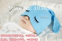 MZ030 2015 Spring winter Top Sale style,Sleep cap ,Kids hats fashion Cute cartoon eyes /baby hats /cute cap hats,Free shipping