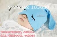 MZ030 2014 Spring winter Top Sale style,Sleep cap ,Kids hats fashion Cute cartoon eyes /baby hats /cute cap hats,Free shipping