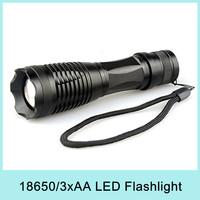 UniqueFire 12W 1800 Lm Zoomable Strobe CREE XM-L U2 LED Flashlight Torch (3xAAA/1x18650) Weatherproof UF-V28 Drop Shipping