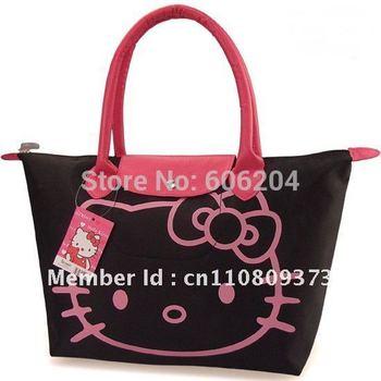 Wholesale Hello kitty Shoulder bags 5 pcs/lot Women's Casual Handbag Waterproof Oxford Shopping bag Woman Cartoon Tote bags