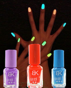 20colors Free Shipping Popular Luminous Nail Polish nail art / Fluorescent nail Enamel 20Pcs/Lot