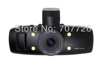 Supernova Sales Car DVR with car camera (Interpolation)1920*1080 720P GS1000K recorder Christmas Drop shipping