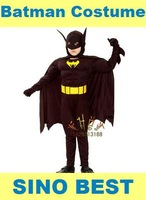 Free shipping 2014  Batman Muscle Costumes For Kids Children Dark Knight  Carnival Party Halloween Cosplay Christmas Gifts