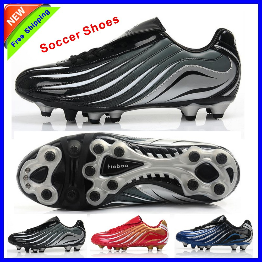 Top Quality Popular mens soccer shoes brand designer football shoes indoor trainers boots soccer cleats 3 colors Free Shipping(China (Mainland))