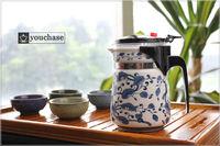 6 patterns available!!! 500ml DEHUA porcelain office teapot, blue and white mug, integrative and convenient design tea pot