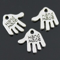 100pcs/lot 12mm 3 Colors Antique Silver, Antique Gold, Antique Bronze Double Sided Hand Made Hand Charms